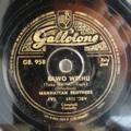 MANHATTAN BROTHERS - Bawo wethu / Pezulu e mafini - 78 rpm