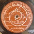 RICO'S CREOLE BAND - La fete des fleurs / El negro zumbon - 78 rpm