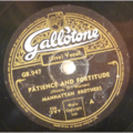MANHATTAN BROTHERS - Patience and fortitude / Hey ba ba re bop - 78 rpm