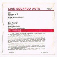 AUTE LUIS-EDUARDO Aleluya n°1 - Rojo Sobre Negro / Don ramon - made in Spain