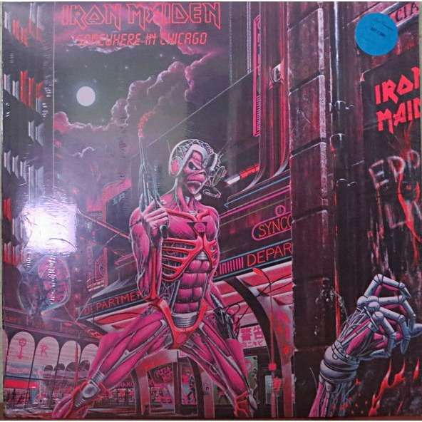 Iron Maiden SOMEWHERE IN CHICAGO (Blue vinyl)