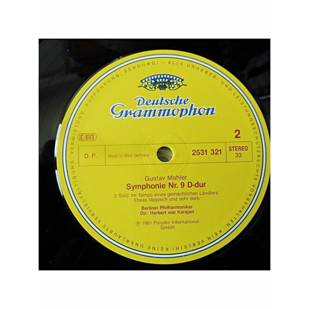 Gustav Mahler/ Berliner Philharmoniker , Herbert v 9. Symphonie D-dur - ( 2 lp set box stéréo )