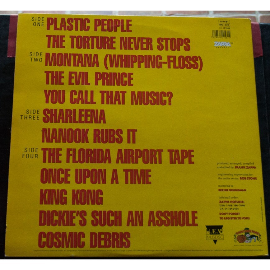 Zappa Frank You can't do that on stage anymore LP sampler
