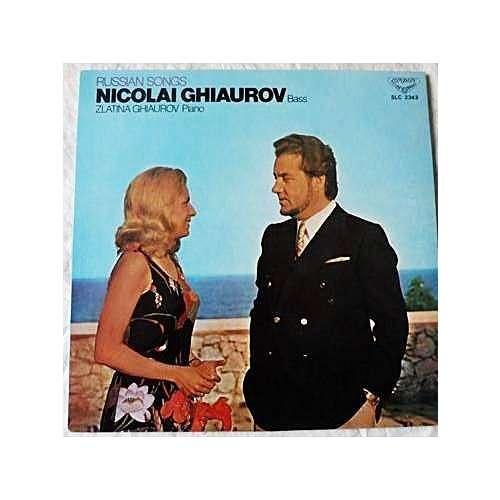 Nicolai Ghiaurov, Basse - Zlatina Ghiaurov, piano Russian songs - ( stéréo  near mint condition )