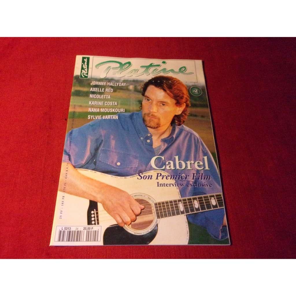 francis cabrel PLATINE OCTOBRE 1995