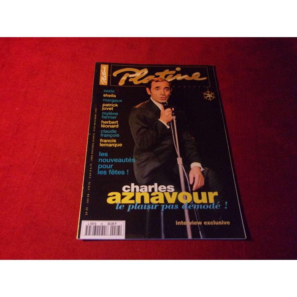 CHARLES AZNAVOUR PLATINE DECEMBRE 1995