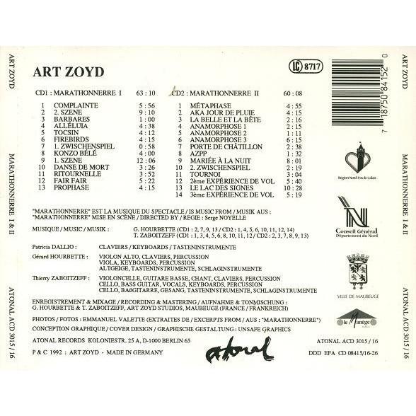 Art Zoyd Marathonnerre I & II