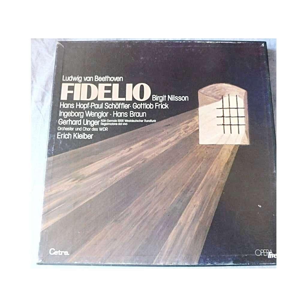 NILSSON / HOPF / SCHÔFFLER / FRICK / WENGLOR Beethoven : fidelio - orchester und chor des wdr dir erich kleiber - ( 3 lp set box near mint )