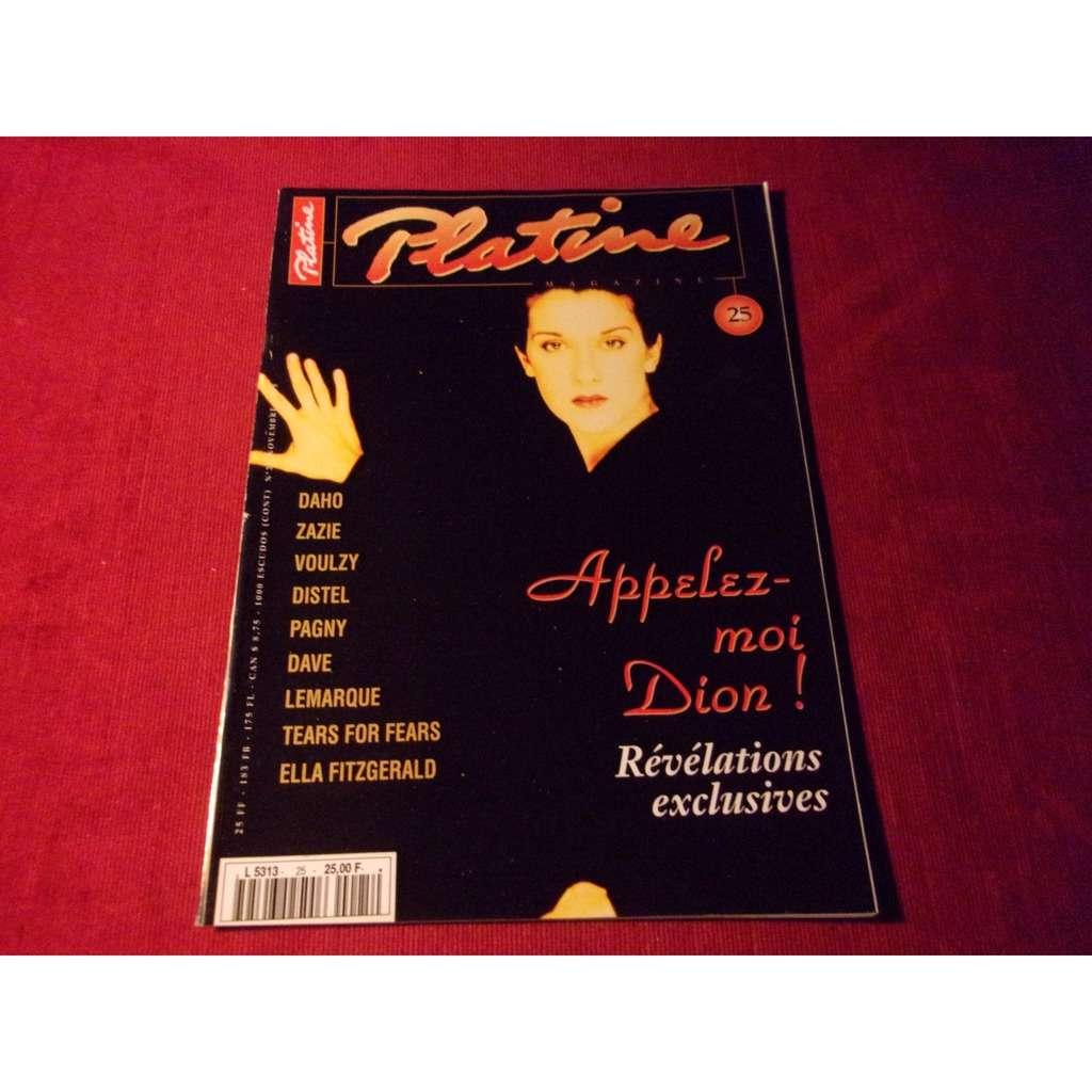 celine dion PLATINE NOVEMBRE 1995