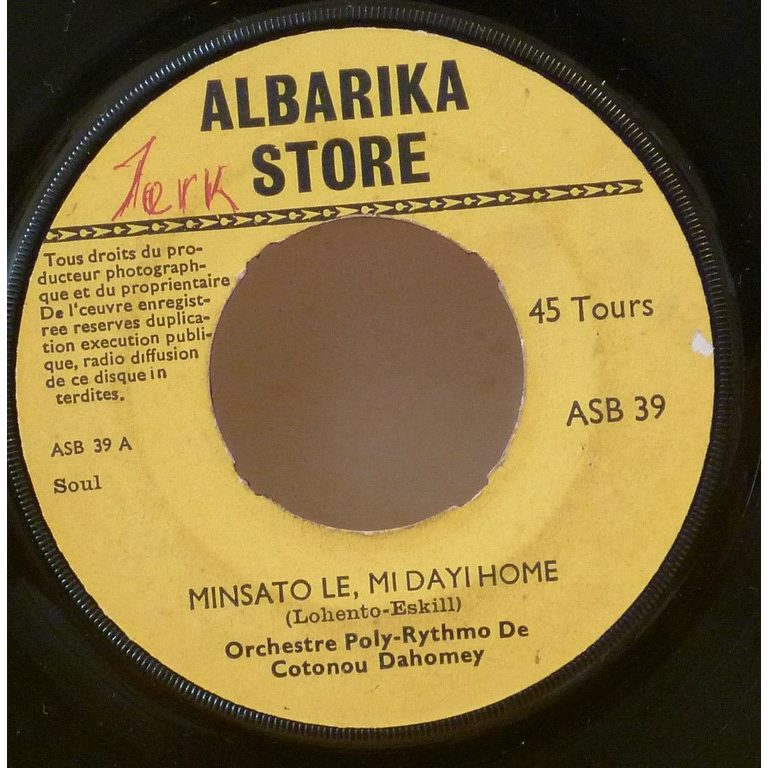 ORCHESTRE POLY RYTHMO mInsato le, mi dayi home / Min we tun so