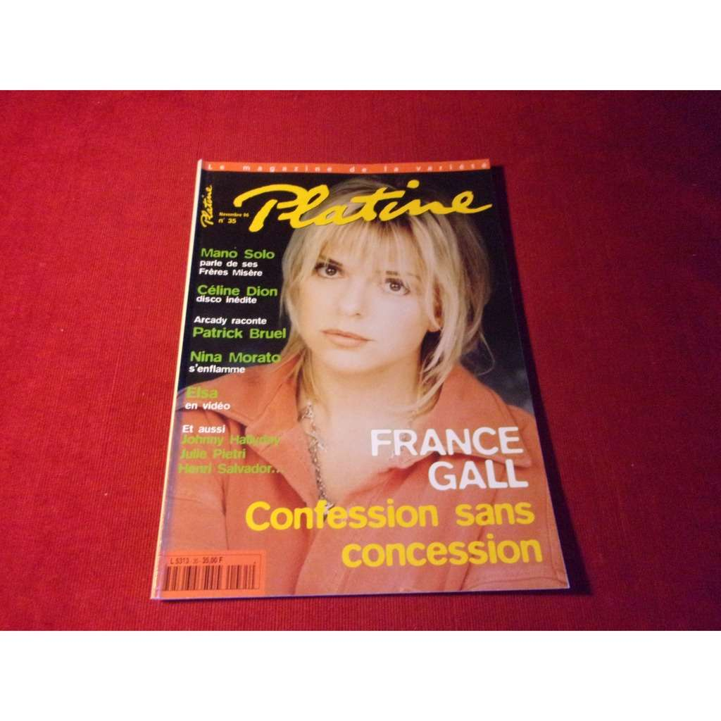france gall PLATINE NOVEMBRE 1996