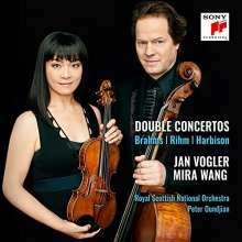 Jan Vogler violin. Mira Wang cello Brahms/Rihm/Harbison:Double Concertos