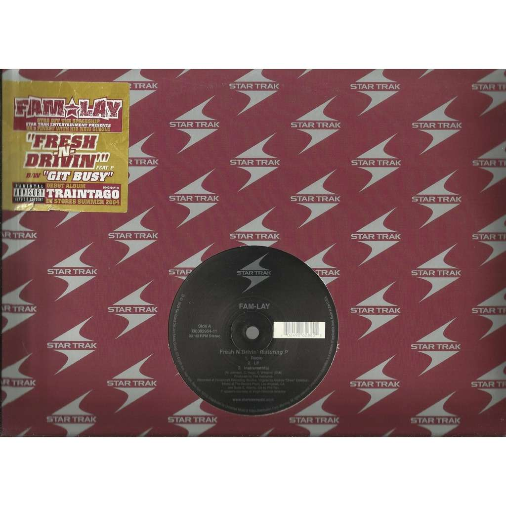 FAM-LAY fresh n' drivin' - 3mix (feat. P.) / git busy - 3mix