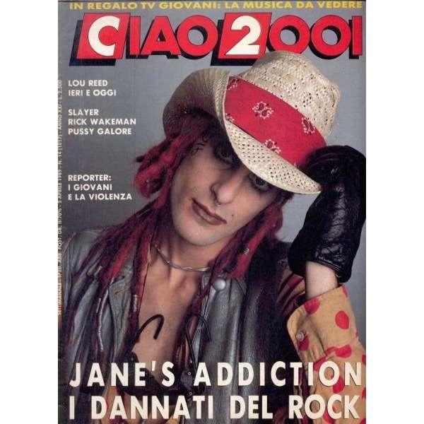 Jane's Addiction Ciao 2001 (05.04.1989) (Italian 1989 Jane's Addiction front cover magazine)