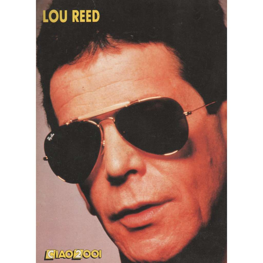 Lou Reed Ciao 2001 (05.04.1989) (Italian 1989 Lou Reed back cover magazine)