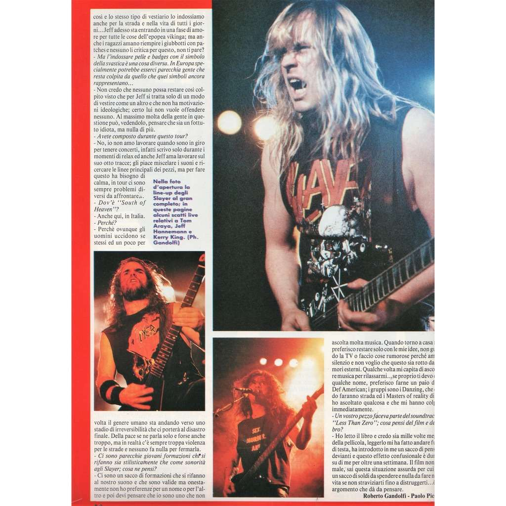 Slayer Ciao 2001 (05.04.1989) (Italian 1989 music magazine)