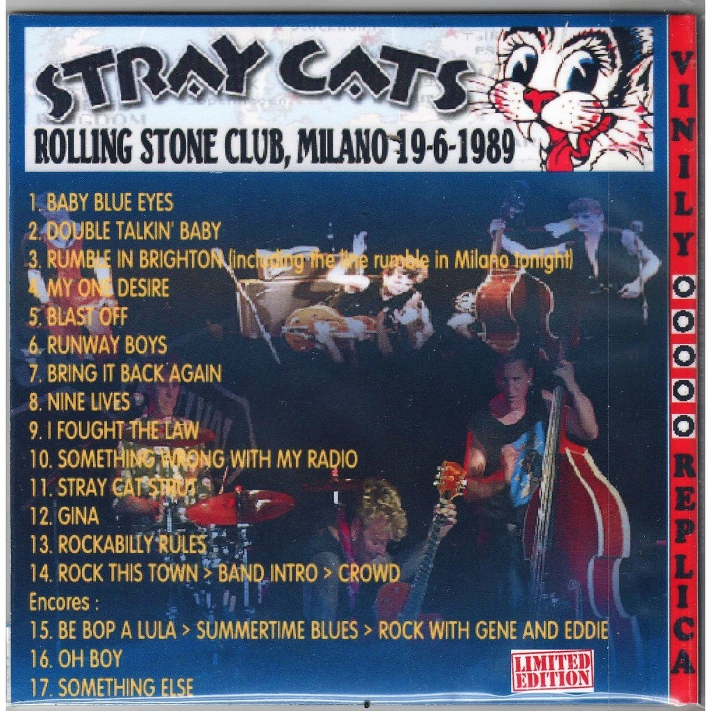 Stray Cats Live At 'Rolling Stone' (Milano IT 19.06.1989)