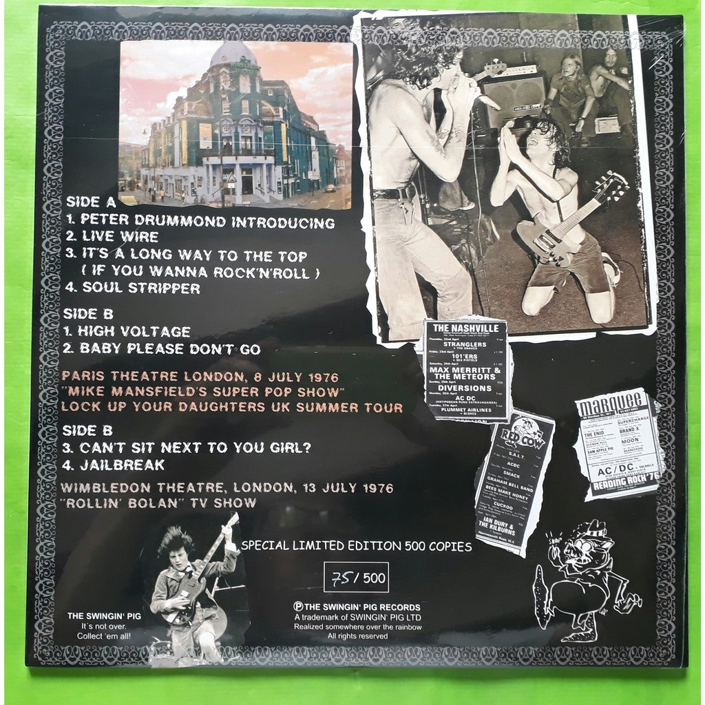 AC/DC LOCK UP YOUR DAUGHTERS-(Limited edition)(Album red vinyl)&(Getefold sleeve)(Germany)