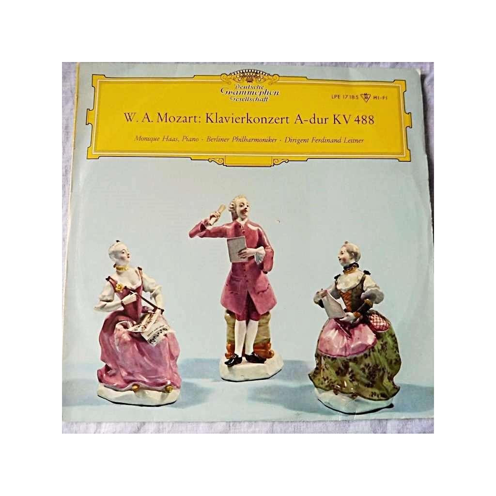 MONIQUE HAAS, piano - FERDINAND LEITNER Mozart : Klavierkonzert A-dur kv. 488 - ( lp 10 ed2 )