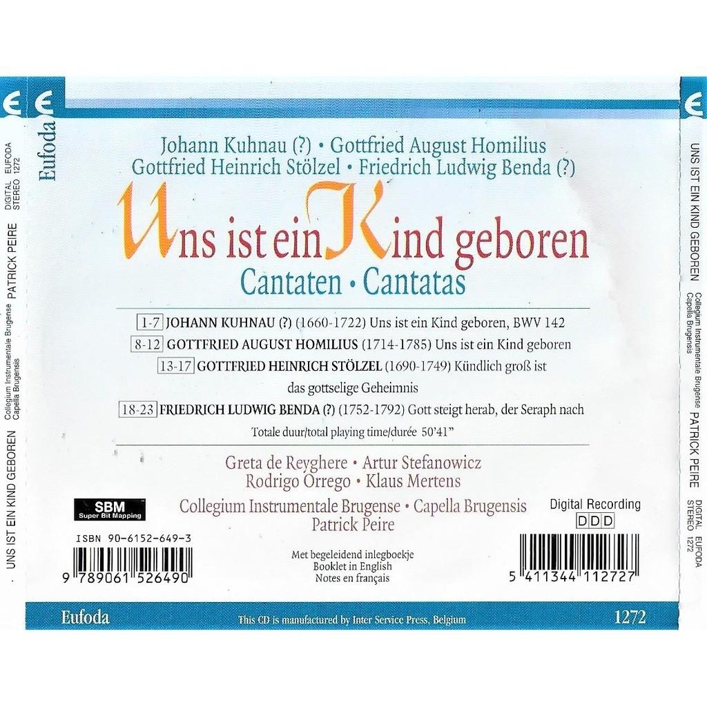 Greta De Reyghere , Artur Stefanowicz , K. Mertens Uns Ist Ein Kind Geboren - Cantaten / Cantatas