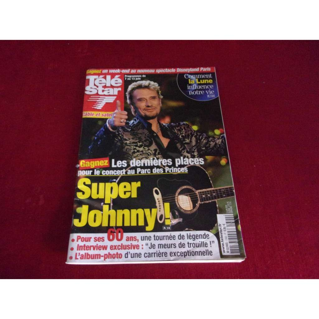 johnny hallyday TELE STAR JUIN 2003