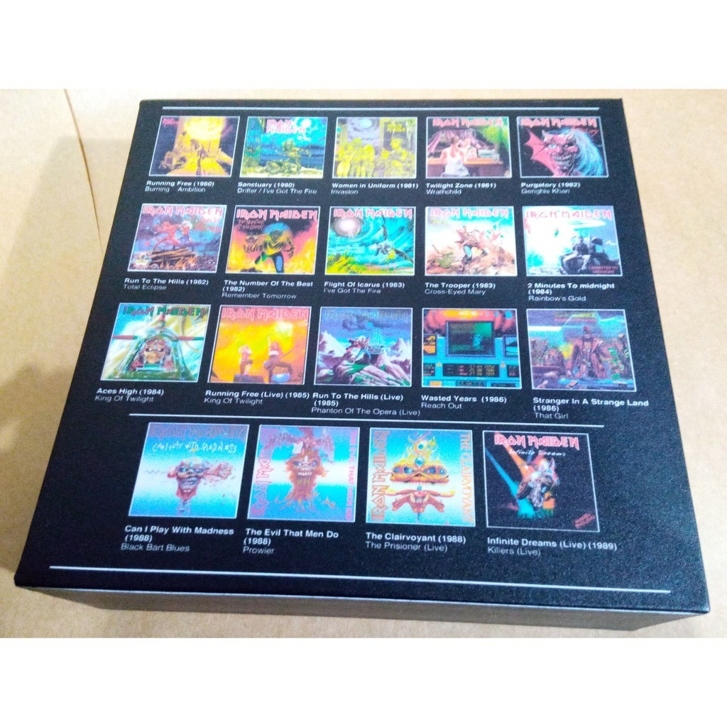 Iron Maiden Box Complete Collection Singles 1980 - 1988 (Brazil release 2018)