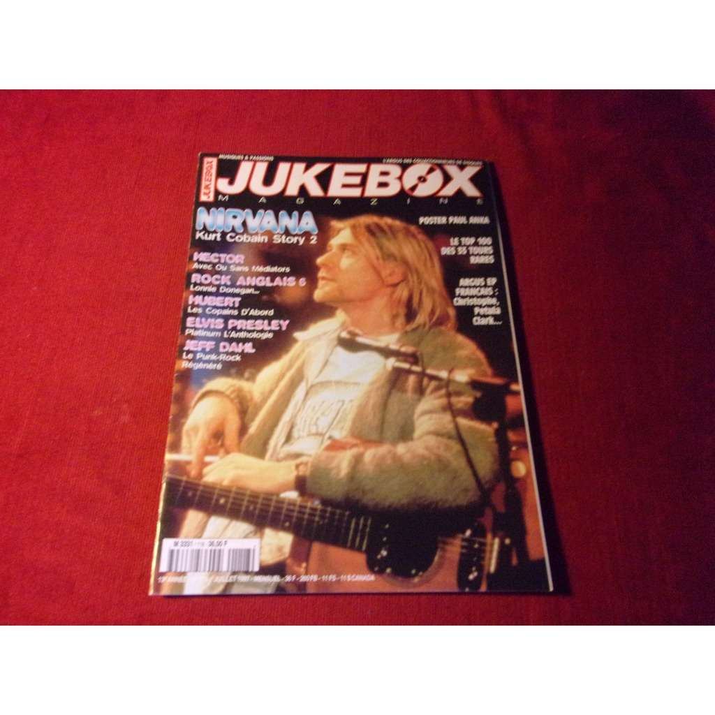 NIRVANA KURT COBAIN JUKEBOX n° 118 JUILLET 1997