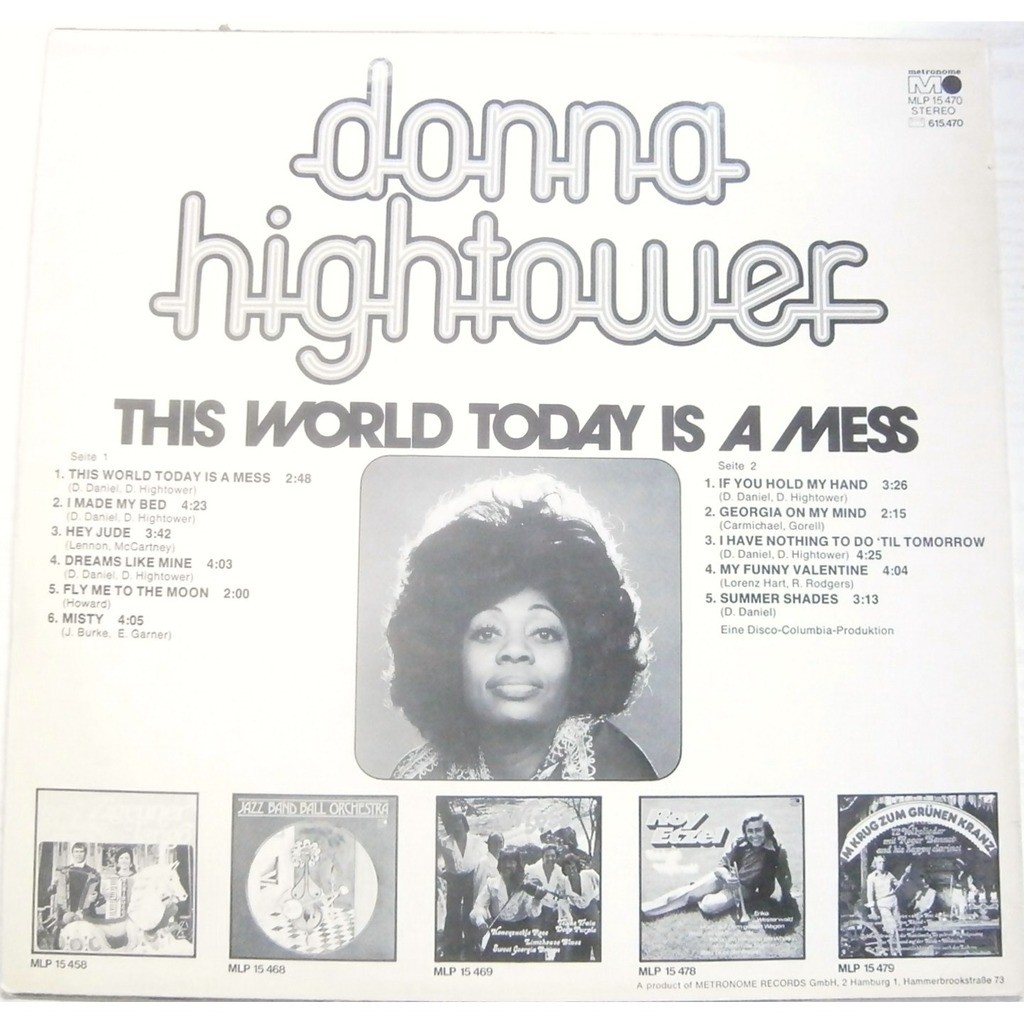 donna hightower this world today is a mess
