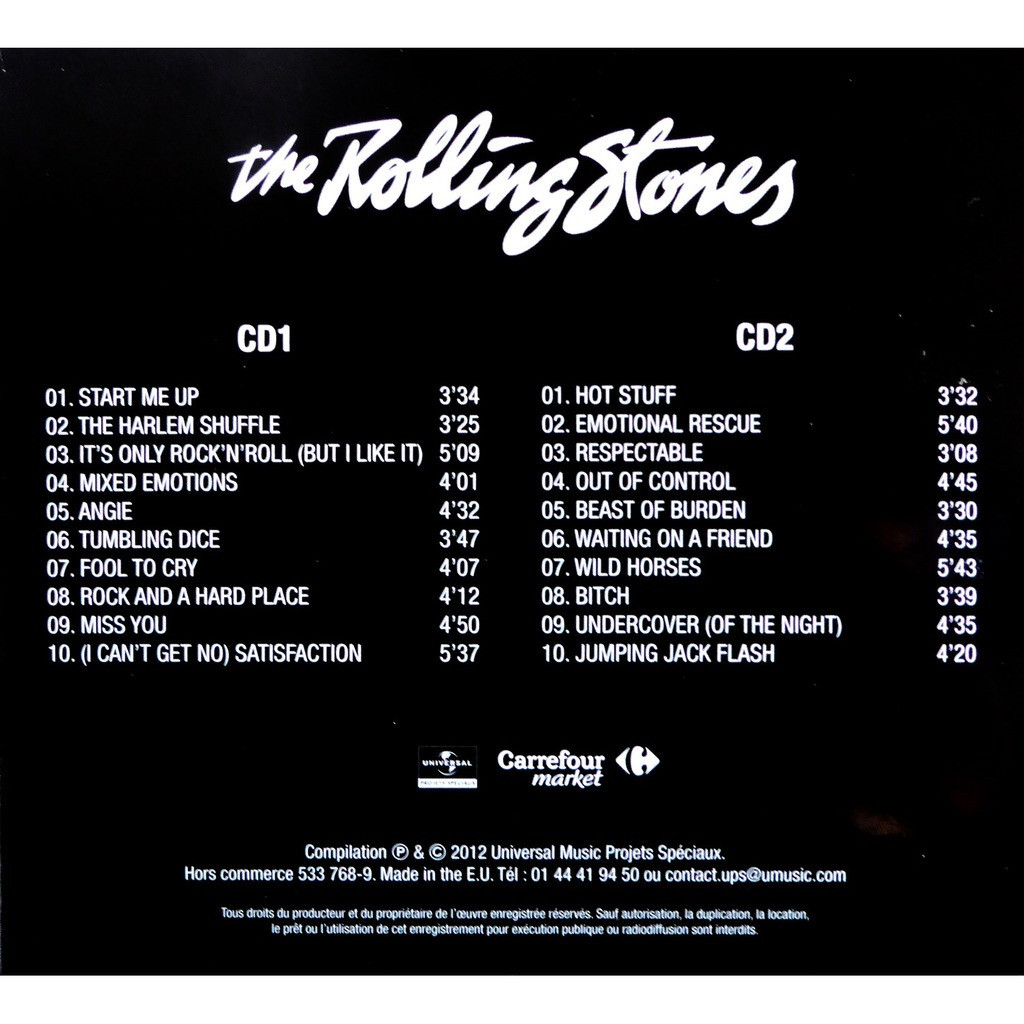 Promo Carrefour France By The Rolling Stones Cd X 2 With Lolo87 Voucher Carefur