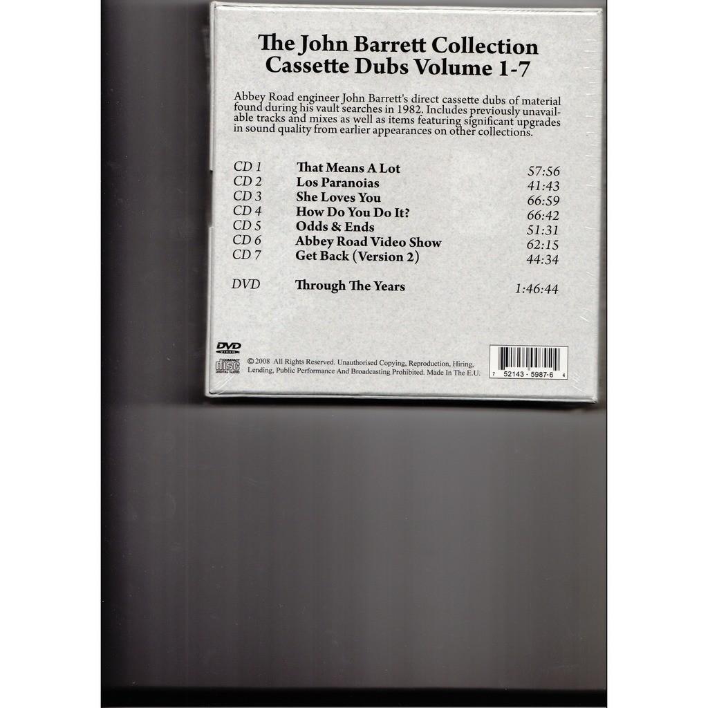 BEATLESTHE COMPLETE JOHN BARRETT'S CASSETTE DUBS (7cd + dvd box set)