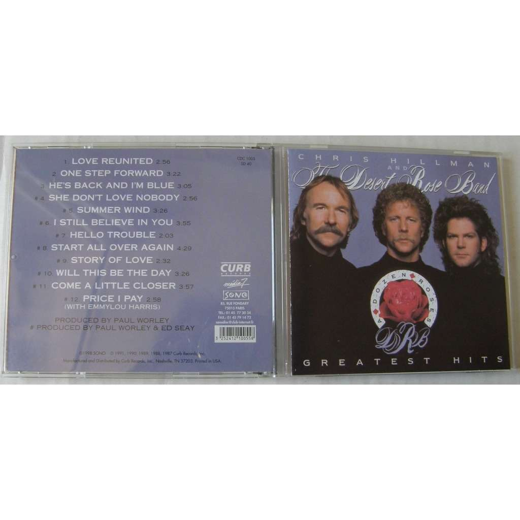 CHRIS HILLMAN AND THE DESERT ROSE BAND A DOZEN ROSES GREATEST HITS