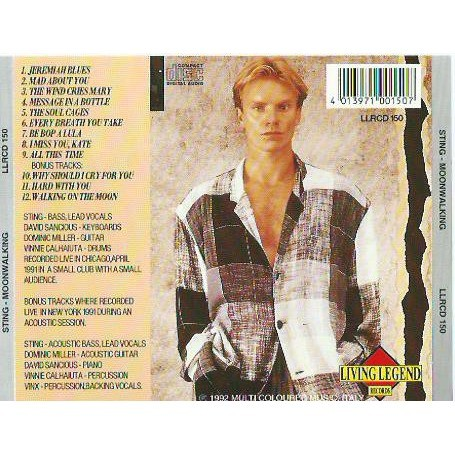 Moon walking by Sting, CD with sweetrarities