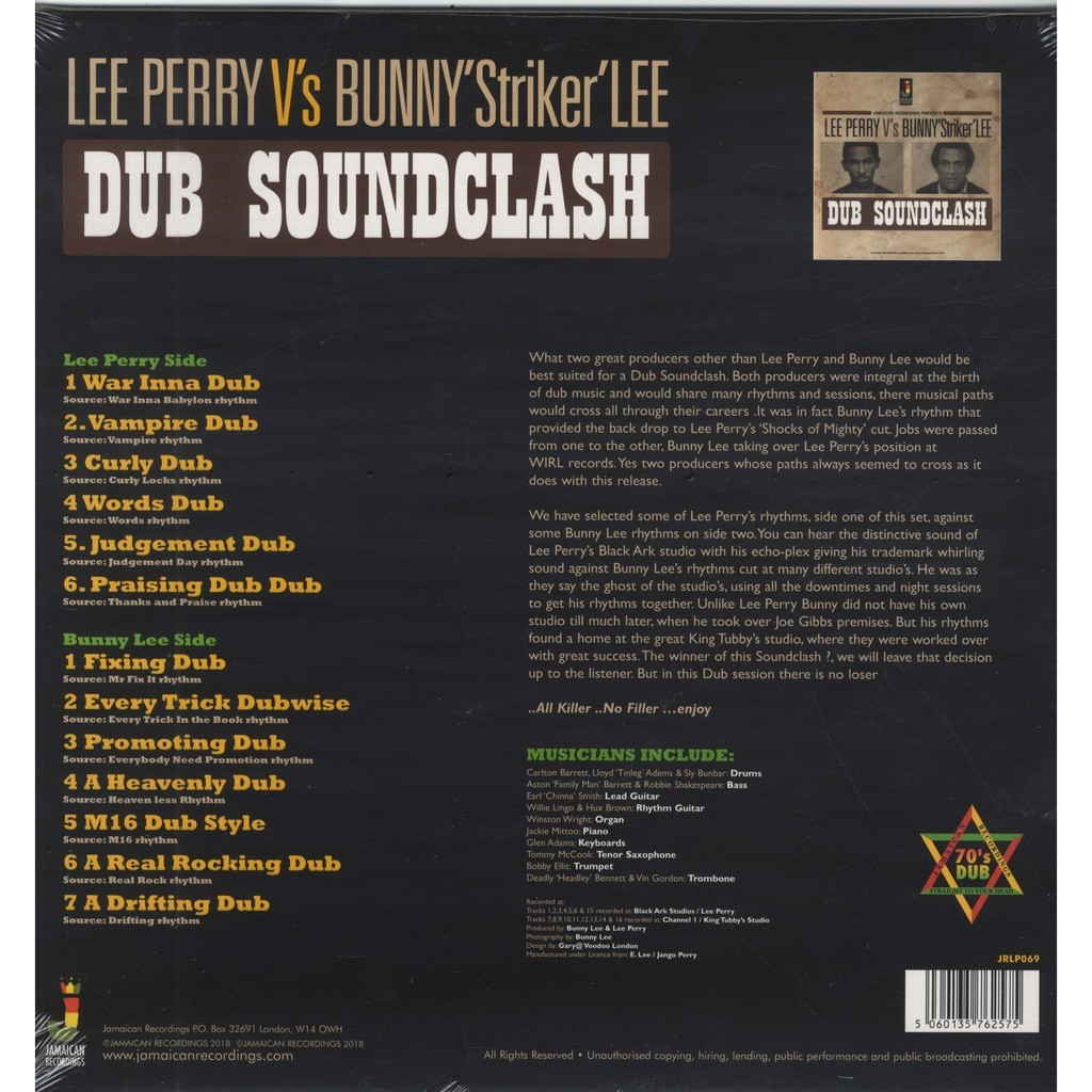 Lee Perry Vs Bunny Striker Lee Dub Soundclash