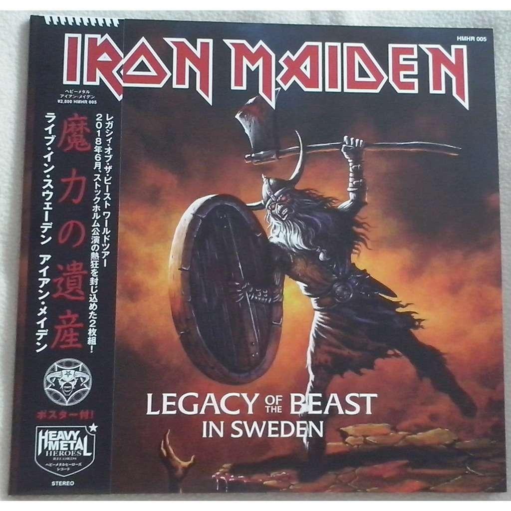 Iron Maiden Legacy Of The Beast In Sweden (2xlp) Ltd Edit Gatefold Sleeve & Rsd 2018 Gold Vinyl -Jap