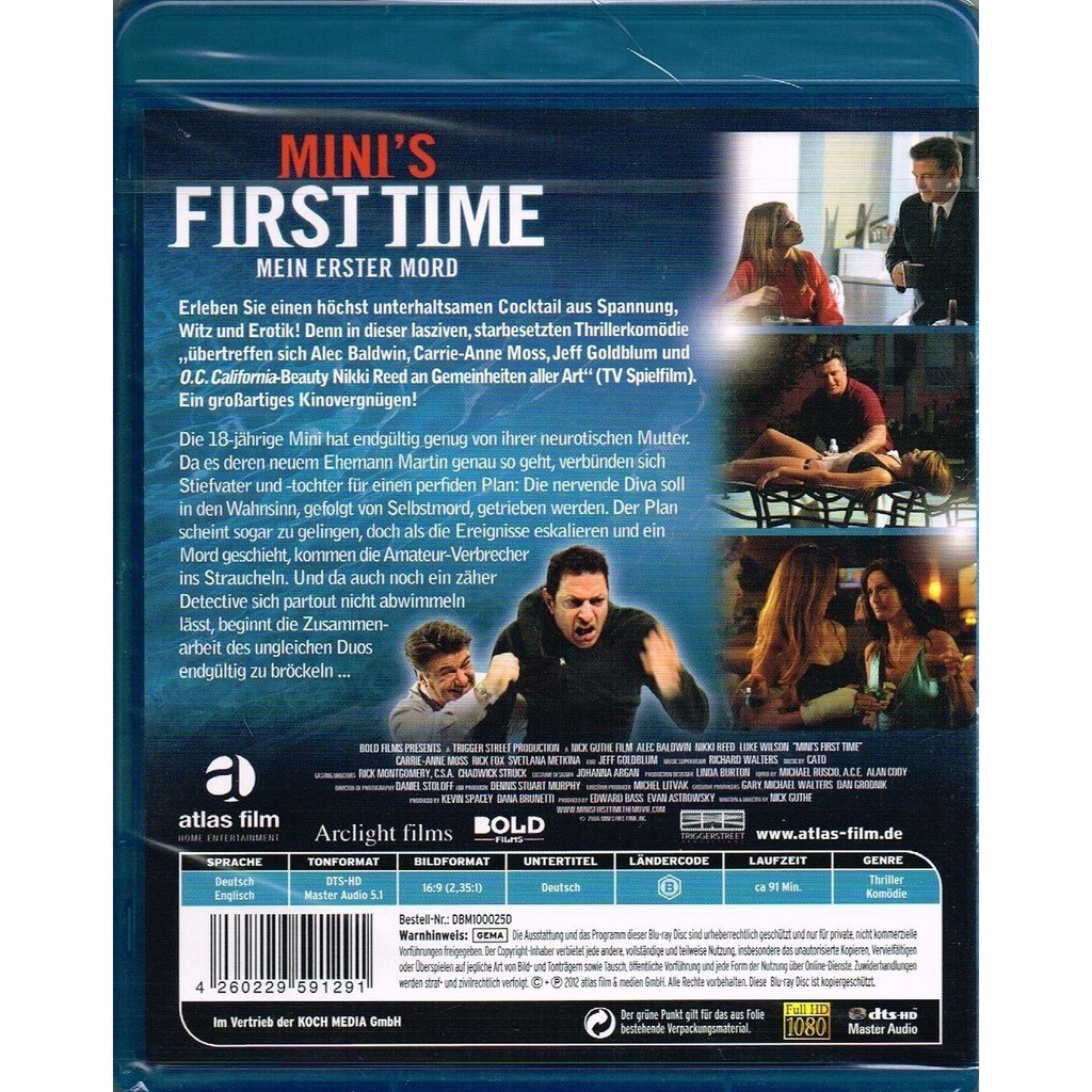 Mini's first time - mein erster mord (mini's first time) by Alec Baldwin,  Carrie-Anne Moss, Jeff Goldblum, Blu-ray Disc with allaboutvinylplus