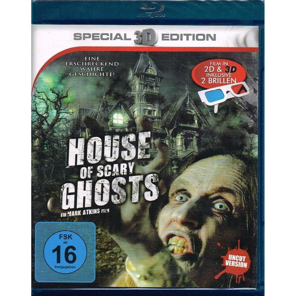 Lisa Kellerman, Michael Holmes, Tomas Boykin House Of Scary Ghosts 3D -  Uncut Version, including 2 Glasses (Haunting Of Winchester House)