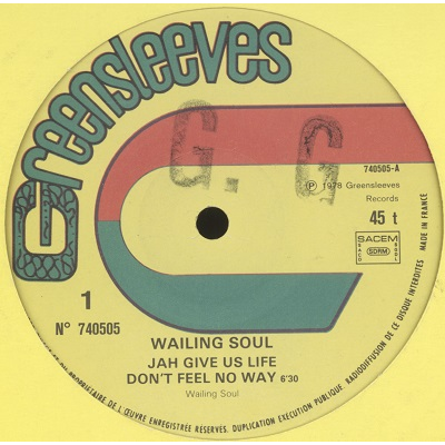 Wailing Soul Jah give us life
