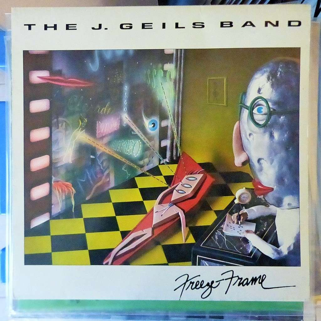 Freeze frame by The J.Geils Band, LP with blackcircle - Ref:875347602