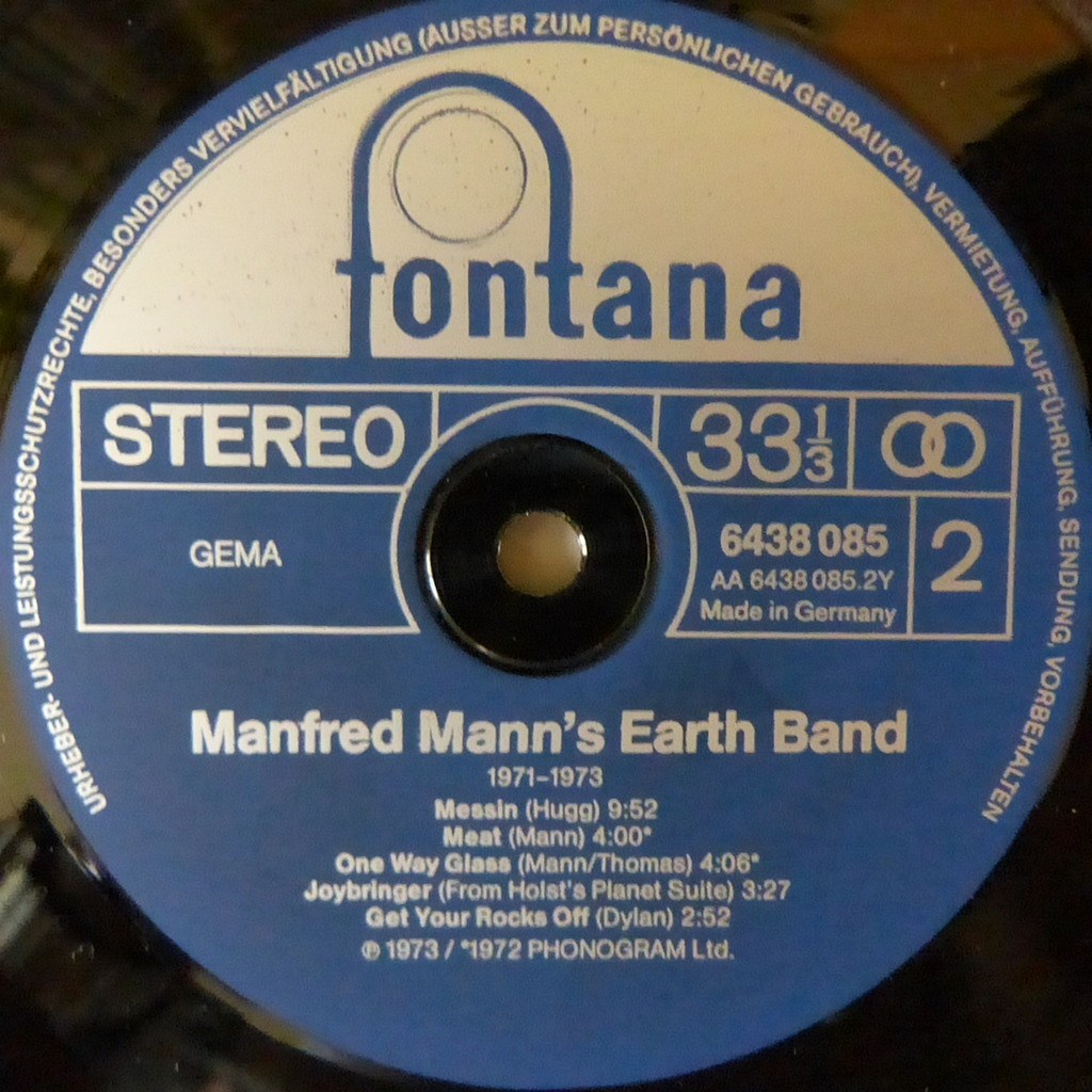MANFRED MANN'S EARTH BAND 1971-1973