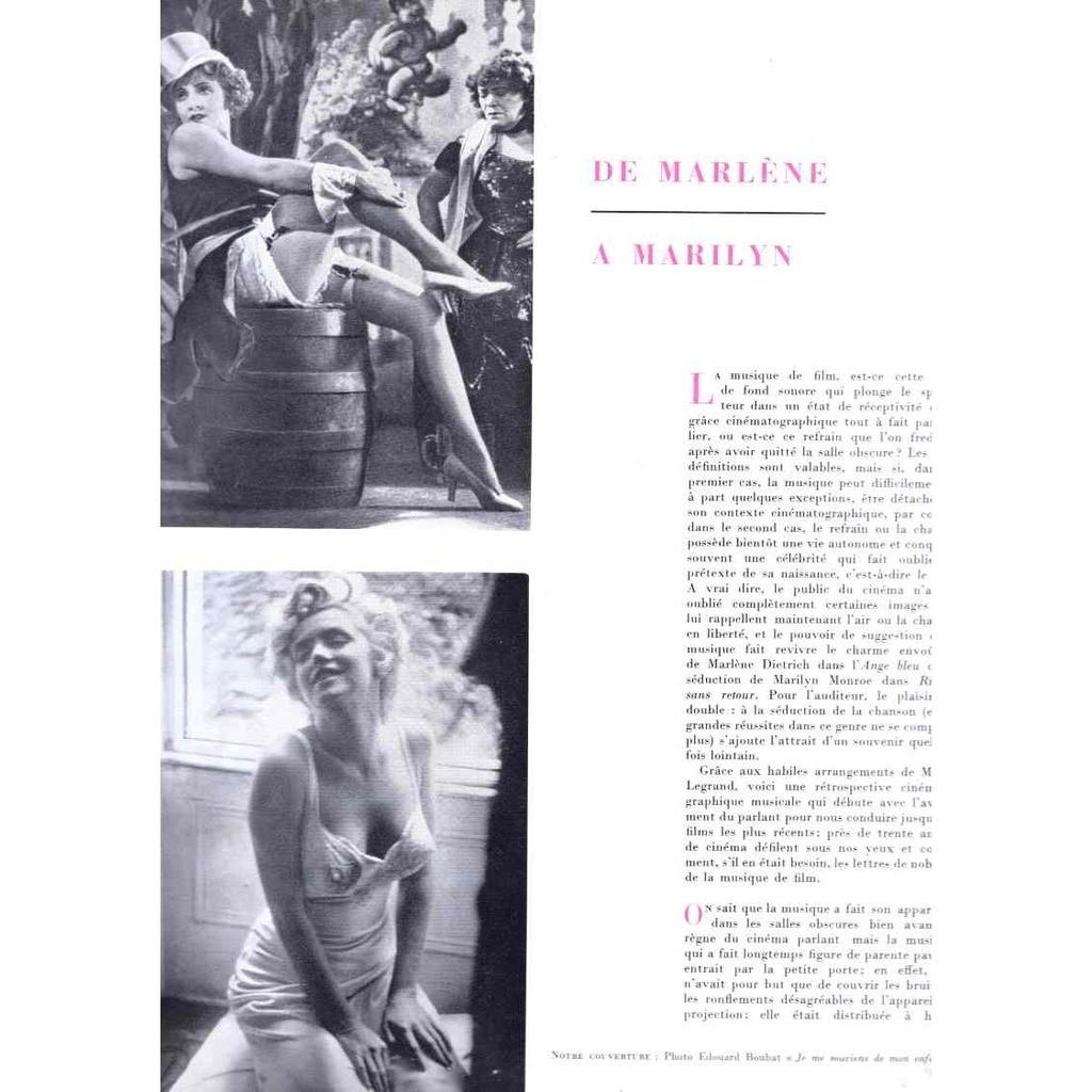 Michel Legrand Marlene Dietrich Marilyn Moroe De Marlene à Marilyn 16 titres Edition limitees N°111/200