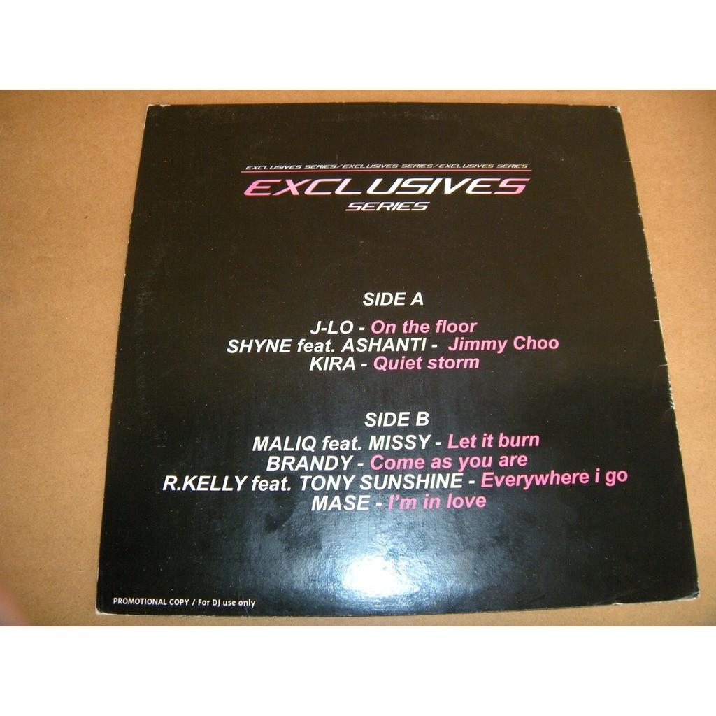 EXCLUSIVES SERIES COMPILATION:J-LO / SHYNE / KIRA Etc….