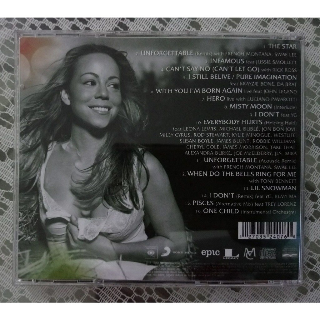 The star - unreleased (brazil release 2018) by Mariah Carey, CD with omisso