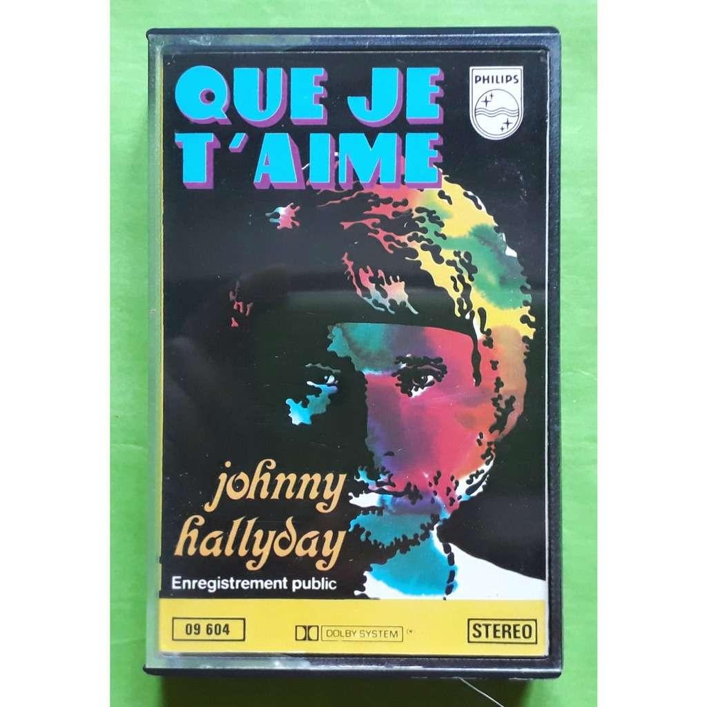 Johnny Hallyday Que Je Taime Album Cassette Audiooriginalphilips1969france