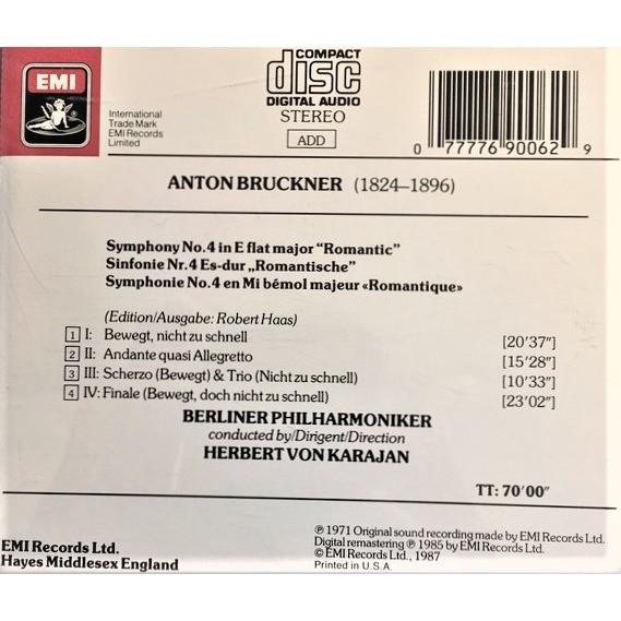 """Berliner Philharmoniker, Herbert Von Karajan Anton Bruckner : Sinfonie No.4 Romantische / Symphony No. 4 """"Romantic"""""""