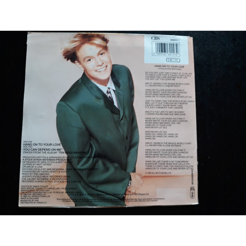Jason Donovan - Hang On To Your Love (7, Single) Jason Donovan - Hang On To Your Love (7, Single)