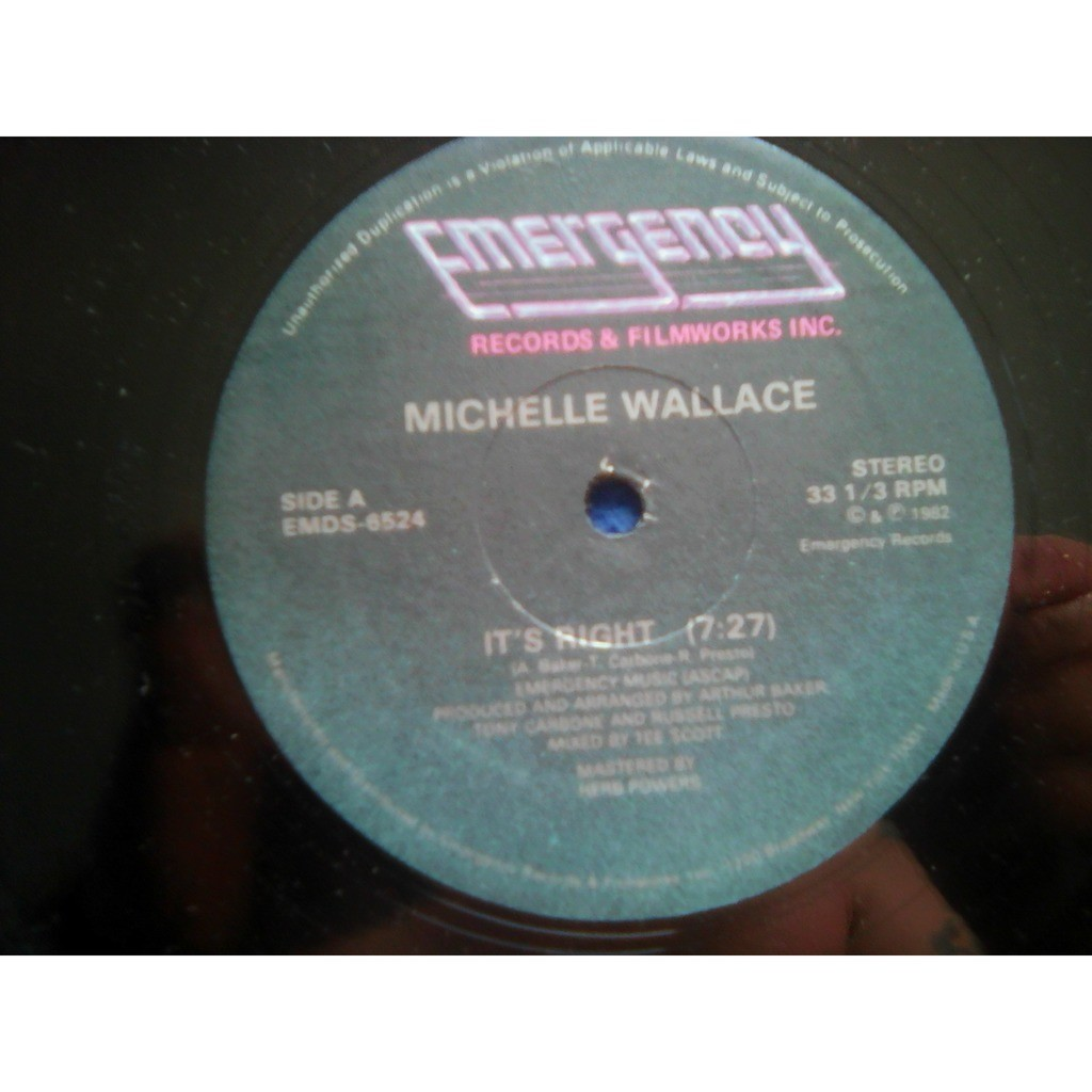 Michelle Wallace - It's Right (12) 1982 Michelle Wallace - It's Right (12) 1982