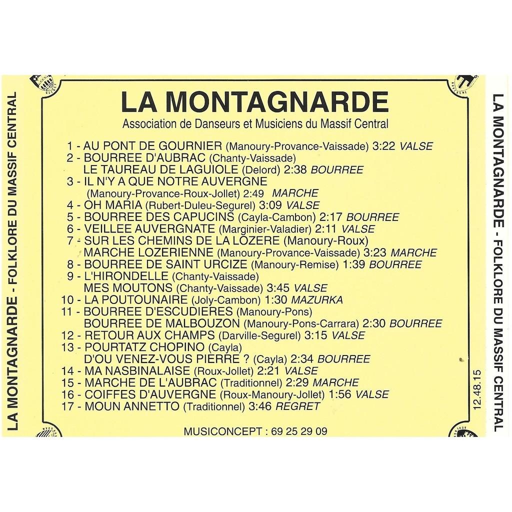 divers artistes - various artist LA MONTAGNARDE (Folklore du Massif Central)