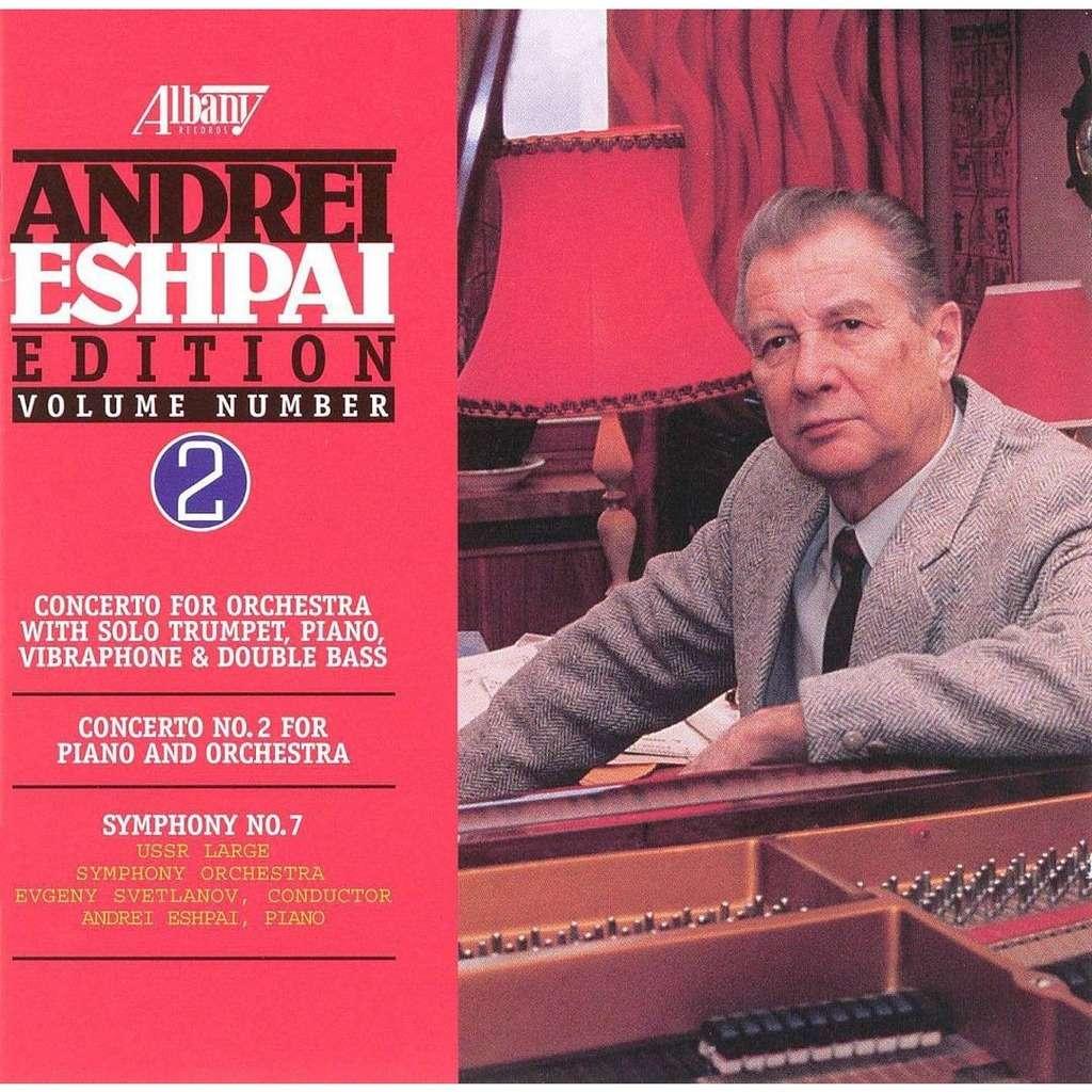 Eshpai, Andrei (1925-2015) Symphony 7; Piano Concerto 2; Etc / USSR State Symphony Orchestra, Yevgeny Svetlanov