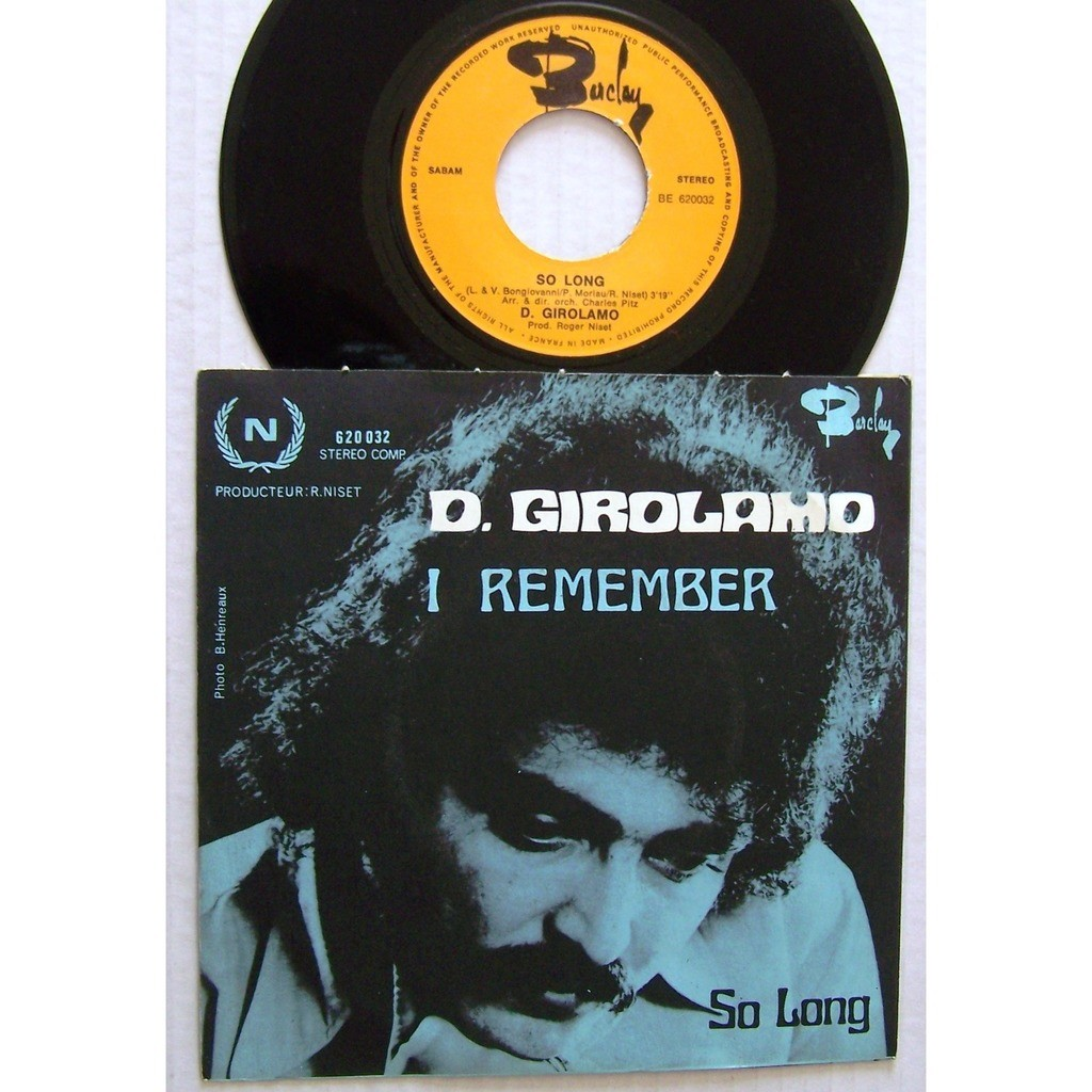 D. Girolamo I remember