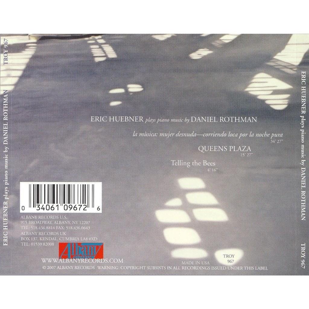 Rothman, Daniel (1958-) Piano Music / Eric Huebner
